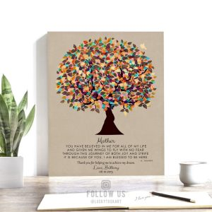 You Believed In Me Poem Personalized Gift For Mothers Day Tree Gift From Daughter Custom Art Print #1311