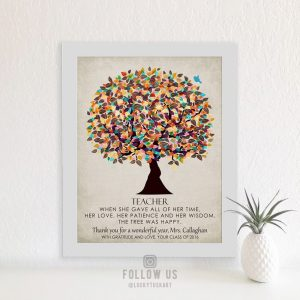 Personalized Gift For Teacher Graduation From Class Thank You Gift Custom Art Print #1317