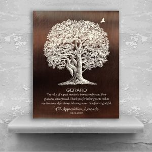 Gift For Mentor Large Oak Tree The Value of A Great Mentor Unsurpassed Custom Art Print Plaque 1397