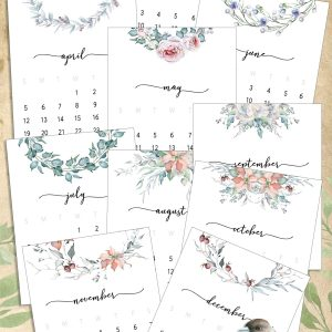 Instant Download – Floral Designs Calendars in Bloom for 2020