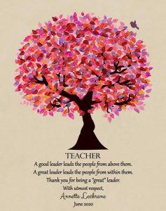 Custom Gift for Teacher Art Proof for Annette L.