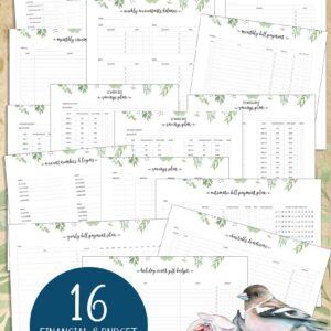 Greenery Design Financial Budgeting Bundle