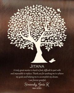 Custom Mentor Gift Art Proof for Dr. Jitana B.