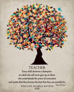 Custom Gift for Teacher Art Proof for Floriya M.