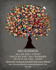 Custom Gift for Teacher Art Proof for Heather L.