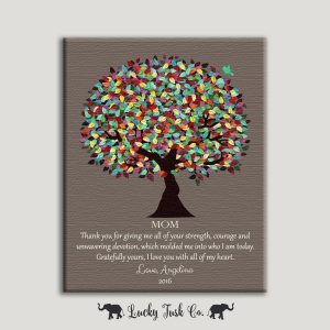 Thank You Gift For Mom, Christmas Gift, Birthday Gift From Daughter Mother's Day Gift From Son To Mother Custom Art Print 1420