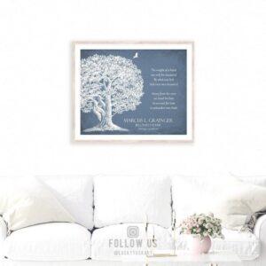 Memorial Plaque In Loving Memory Poem Oak Tree Sympathy Gift For Family Custom Art Print #1329