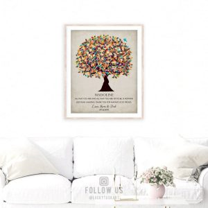 Graduation Gift From Mom And Dad Thank You For Making Us Proud Watercolor Tree Custom Art Print #1322