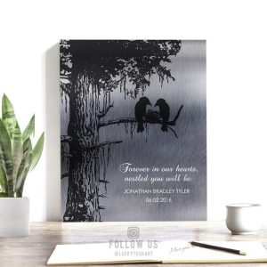 Death of A Child In Loving Memory Loss of Baby Stillborn Nestled in Our Hearts Personalized Sympathy Gift #1356