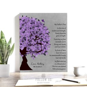 Personalized Father's Day Gift For Dad's Birthday Thank You Gift From Daughter To Father Poem Custom Art Print on Paper Canvas or Metal 1482