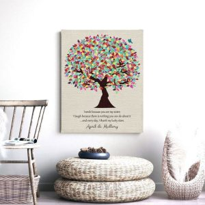 I Smile Because You're My Sister Gift Personalized Gift For Sister or In Law Wedding Day Gift Custom Art Print #1390