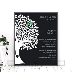 May Birthday Love Poem Personalized Happy Birthday Gift For Wife Emerald Birthstone Gift For Husband #1717