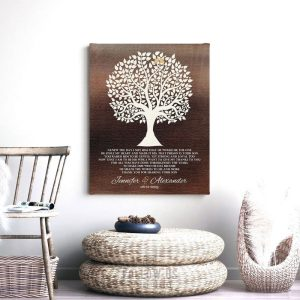 Mother of Groom Gift For Grooms Parents From Bride Faux Dark Bronze I Knew The Day I Met Him Poem Custom Art Print 1419