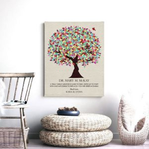 Gift For Esteemed Colleague Gift For Doctor Thank You Gift of Acknowledgement Custom Art Print Plaque 1352