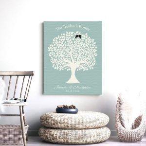 Love And Family Tree With Poem Black Birds And Where Was I Before The Day Found Where I Belong Custom Art Print #1361