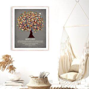 Thank You Gift For Friend Teacher Professor Mentor Coworker Boss Tree Gift Custom Art Print #1320
