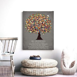 Gift From Graduation Class Thank You Gift For Teacher Appreciation Tree Custom Art Print #1318