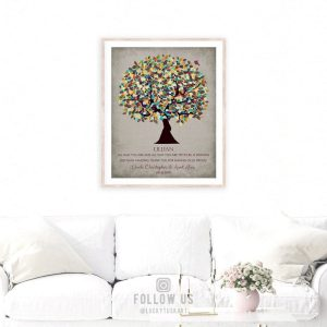 Personalized Gift For Niece Graduation Day Gift From Aunt Uncle Godparents Custom Art Print #1325