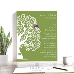 August Romance Love Poem Personalized Engagement Anniversary Gift For Wife Peridot Wedding Day Gift For Husband  #1708