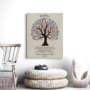 Personalized Gift For Mom Mother's Day Poem From Daughter or Son Birthday Gift For Mum Mom Art Print Choose Paper Canvas or Tin Sign #1461
