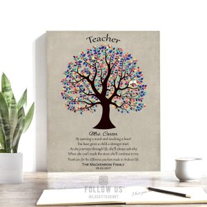 Personalized Gift For Teacher Appreciation Gift From Parents Classroom Thank You Gift Custom Art Print Choose Paper Canvas Or Metal #1462