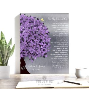 Gift From Groom To Bride — Wedding Day Gift, Personalized, Gift To Wife From Husband, Love Poem #1490
