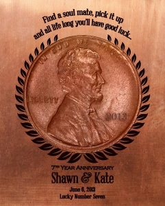 Personalized 7 Year Anniversary Gift Custom Art Proof Katherine T.