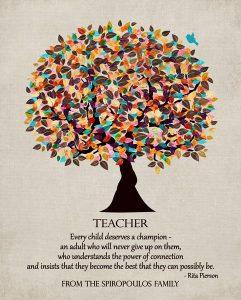 Custom Gift for Teacher Art Proof for Kathy S.