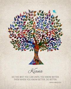 Custom Mentor Gift Art Proof for Kiana V.