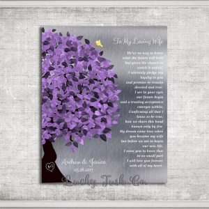 Gift From Groom To Bride, Wedding Day Gift, Personalized, Gift To Wife From Husband, Love Poem #1490