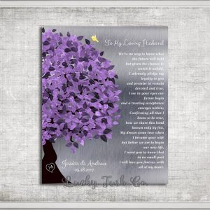 Gift from Bride to Groom on Wedding Day Personalized Gift For Husband Love Poem Gift of Tin Custom Art Print on Paper Canvas Tin Sign #1491