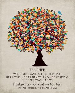 Custom Gift for Teacher Art Proof for Malina B.