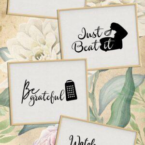 Instant Download – Kitchen Art High Resolution Printable Download Artwork Bundle
