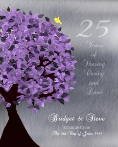 Personalized 25th Anniversary Gift Custom Art Proof for Steve P.