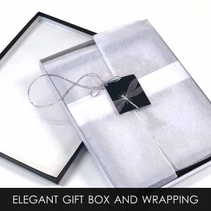 Gift Box With Tissue Wrapping and Gift Tag Service