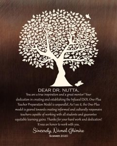 Custom Mentor Gift Art Proof for Dr. Joyce Nutta