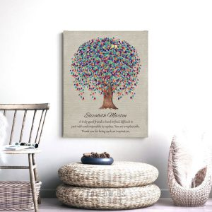 Personalized Gift For Friend, Truly Great Friend, Weeping Willow Tree, Gift for BFF, Custom Art Print – on Paper, Canvas or Metal WWT #1508