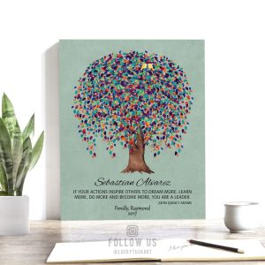 Personalized, Gift for Boss, Mentor, Weeping Willow Tree, Tin, John Quincy Adams Quote Custom Art Print – Paper, Canvas or Metal WWT 1510