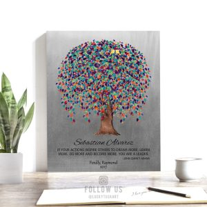 Personalized, Gift for Boss, Mentor, Weeping Willow Tree, Tin, John Quincy Adams Quote Custom Art Print – Paper, Canvas or Metal WWT 1511