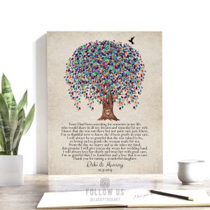 Gift For Mother of Bride, Gift From Groom, Weeping Willow Tree, Watercolor, Personalized Gift, Years I Have Been Searching Custom Print 1518