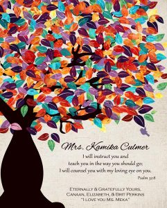 Read more about the article Custom Gift for Teacher Art Proof for Elizabeth P.