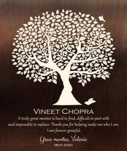 Custom Mentor Gift Art Proof for Vineet C.