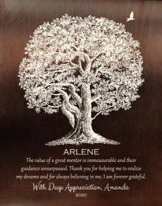 Custom Mentor Gift Art Proof for Arlene M.