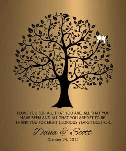 Personalized 8 Year Anniversary Gift Custom Art Proof for Dana B.