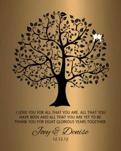 Personalized 8 Year Anniversary Gift Custom Art Proof for Denise T.