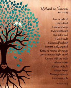 Personalized 7 Year Anniversary Gift Custom Art Proof for Vanessa P.