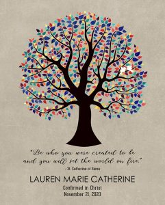 Custom Confirmation Communion Art Proof for Lauren W.