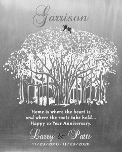 Custom 10 Year Anniversary Gift Art Proof for Ms. Patrice G.