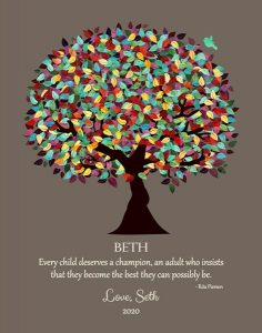 Read more about the article Custom Mentor Gift Art Proof for Beth S.