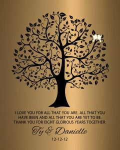 Personalized 8 Year Anniversary Gift Custom Art Proof for Danielle T.